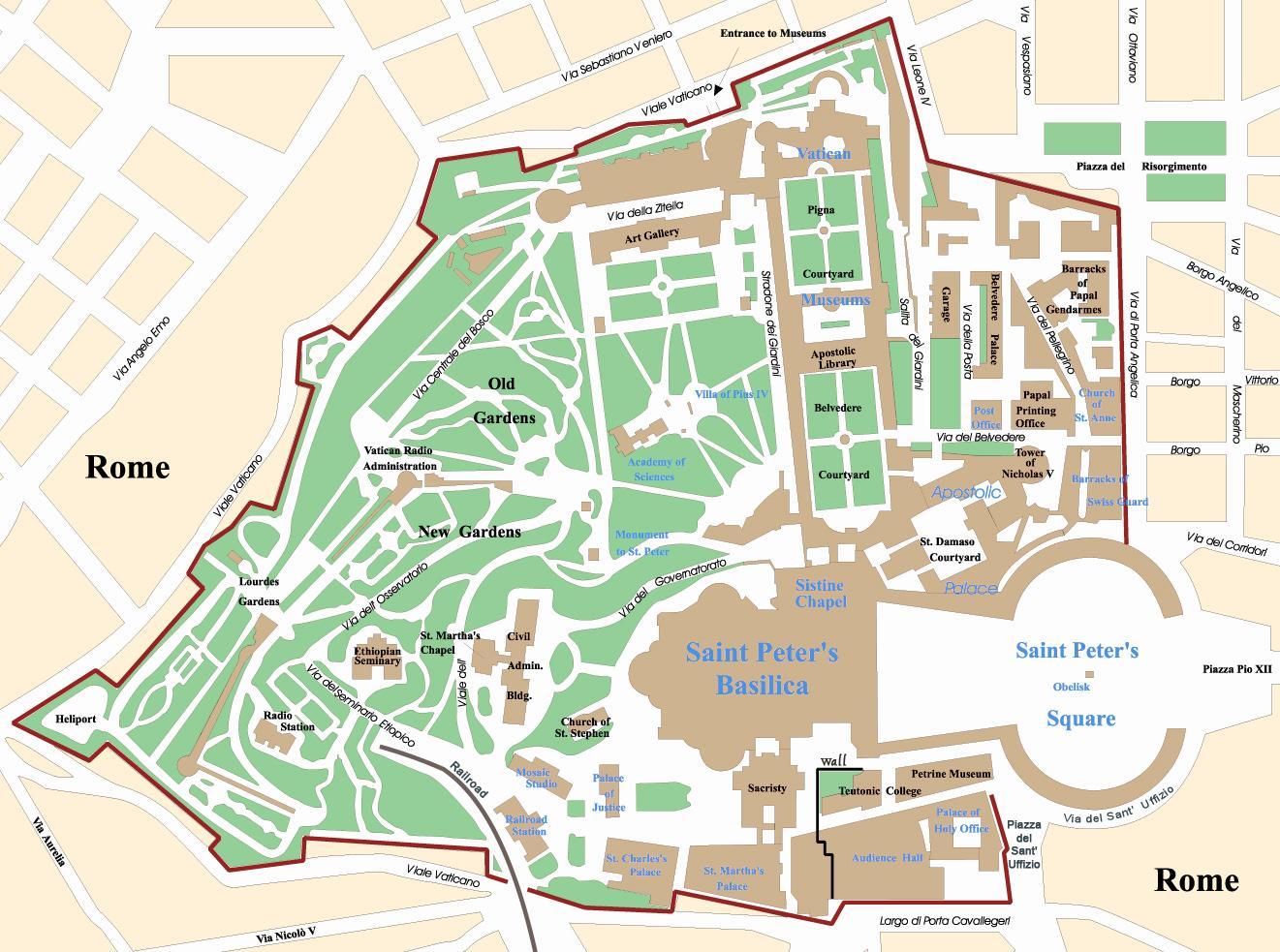 Vatikanet Pa Kort Kort Over Vatikanet Pa Det Sydlige Europa