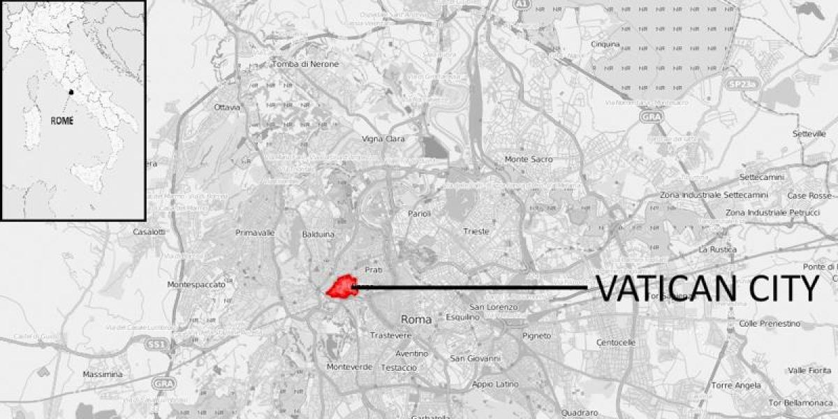 Kort Over Vatikanet I Rom Kort Over Rom Og Vatikanet Det