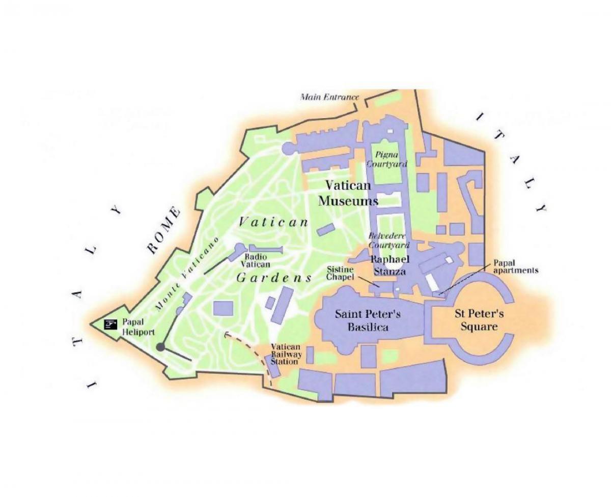 Vatikanet Museum Kort Kort Over Vatikanmuseet Og Det Sixtinske