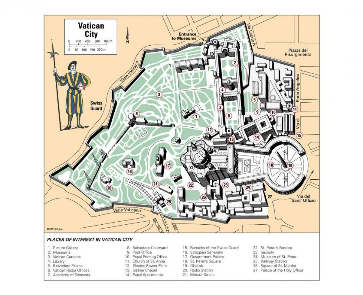 Vatikanets Museer Kort Kort Over Vatikanet Museum Layout Det