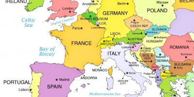 Vatikanet Vatican City Map Kort Vatikanet Vatikanstaten Det